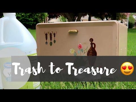 Trash to Treasure Upcycle Make Over (Bread Box DIY) | Garage Sale Haul (2019!)