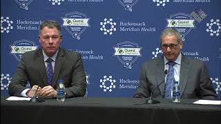 Dave Gettleman and  Pat Shurmur discuss why they decided to  Select Barkley