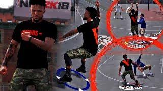 NBA 2K18 MyPARK - BROKE HIS ANKLES 3 TIMES! SOOO MANY GREENS!! DISRESPECTFUL GAME WINNER!