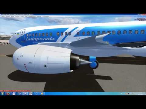 FSX / BOEING 737-500 Dniproavia flight from Odessa (Ukraine) to Batumi (Georgia) / Part I - take off