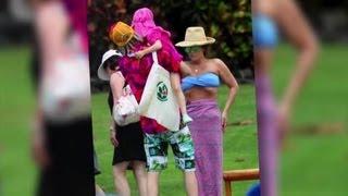 45-Year-Old Lisa Marie Presley Shows Off Her Slim Bikini Body - Splash News
