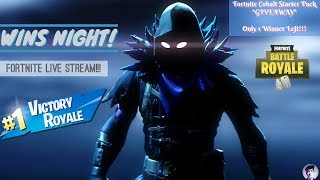 WINS NIGHT || *GIVEAWAY* NEW COBALT STARTER PACK || Fortnite Live Stream India ||