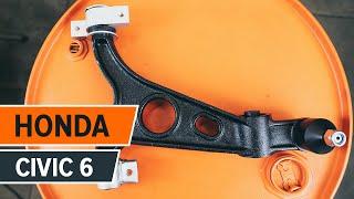 Como e quando mudar Braço oscilante de suspensão traseiro e dianteiro HONDA CIVIC VI Fastback (MA, MB): vídeo tutorial