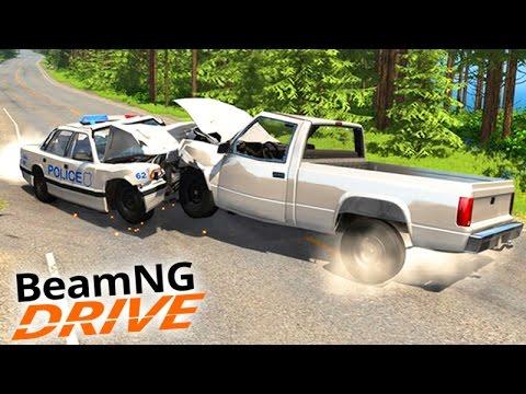 BeamNG Drive - POLICIA vs LADRÃO!!! - A PERSEGUIÇÃO ÉPICA