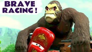 Cars Racing - Disney Cars Toys McQueen HULK and Hot Wheels Avengers Dinosaur and Batman TT4U