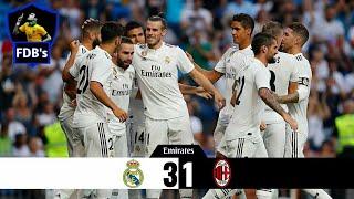 Real Madrid 3x1 AC Milan - Melhores Momentos - 11/08/2018