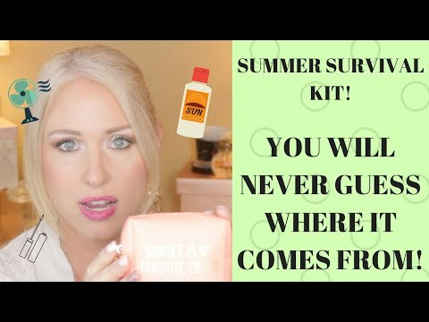 Summer Survival Kit-Everything You Need For Summer In A Tiny Little Pouch! And It's From Starbucks!