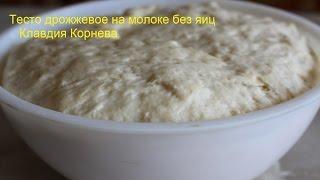 Тесто дрожжевое на молоке без яиц для булочек пирогов пирожков и беляшей