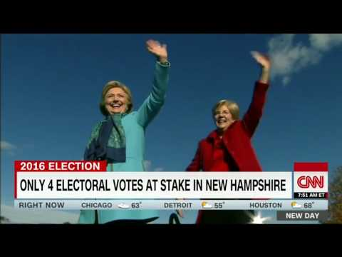 Clinton, Trump battle for crucial New Hampshire votes