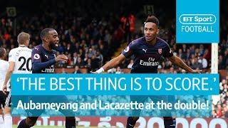 Lacazette and Aubameyang grab win number nine for Arsenal | BT Sport