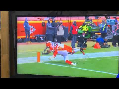 A Browns Move: Diving To Score, Ball Knocked Out By Chiefs, Results In Touchback, Kansas City Ball