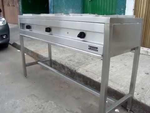 Parrilla industrial en acero inoxidable youtube - Laminas de acero inoxidable para cocinas ...