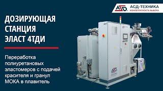ЭЛАСТ 4ТДИ - производство полиуретановых эластомеров ТДИ систем с закрытой подачей МОКА в плавитель