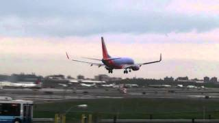 Scary Aircraft Landing!!! (airplane comes in too fast and re-takes off just inches from ground)