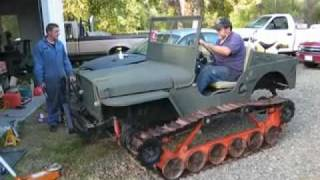 Jeep Willys with Tank Tracks