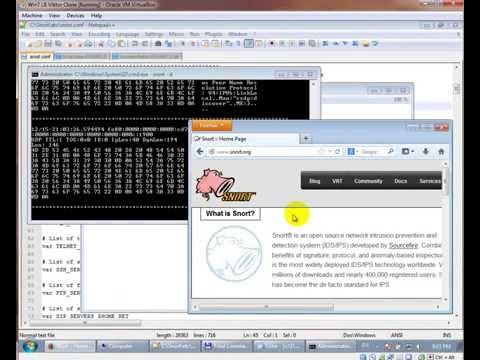 Snort On Windows 7 Live Demo
