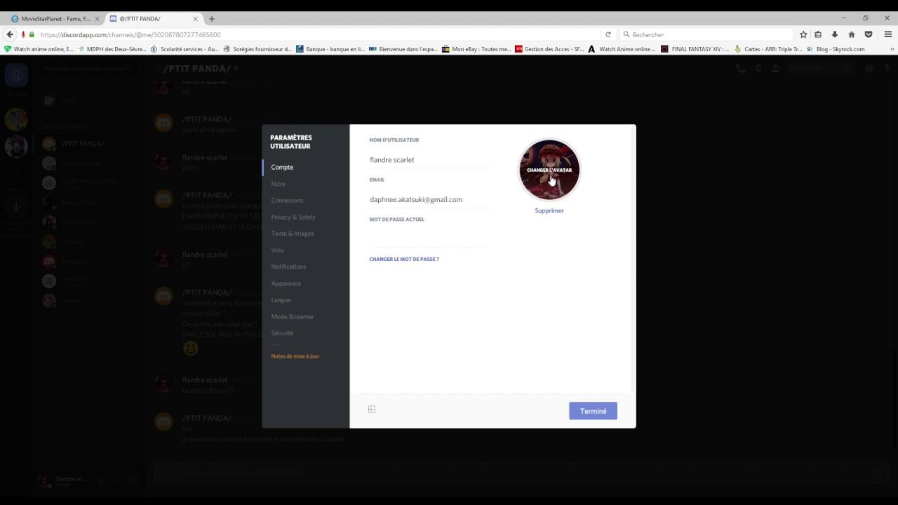 comment mettre une photo de profils sur discord
