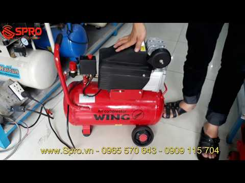 Máy Nén Khí Mini Xách Tay Wing 1.5HP Dung Tích 25L Giá Rẻ