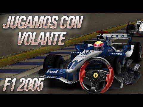 JUGAMOS A F1 2005 CON VOLANTE POR PRIMERA VEZ!!