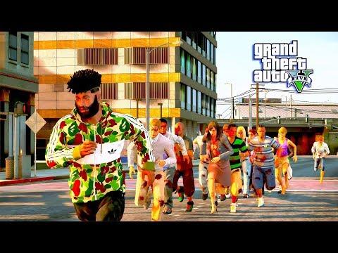 GTA 5 REAL LIFE MOD #17 ZOMBIE APOCALYPSE! (GTA 5 REAL LIFE MOD)