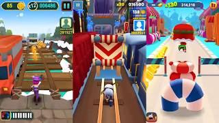 Subway Rush Runner Vs Subway surfers Vs Talking Tom Gold Run | Android Gameplay | Friction Games