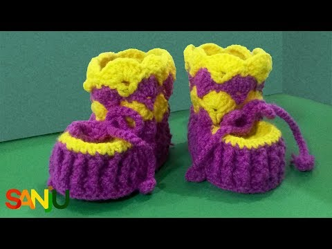 Step-by-step crochet cute baby | booties | shoes
