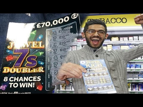 BEST Scratchcard Lottery Ticket Win (Scratch Card Lotto Jackpot Winner)