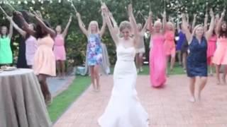Watch the musical Iron Bowl that breaks out when Alabama Crimsonette marries Auburn drum major