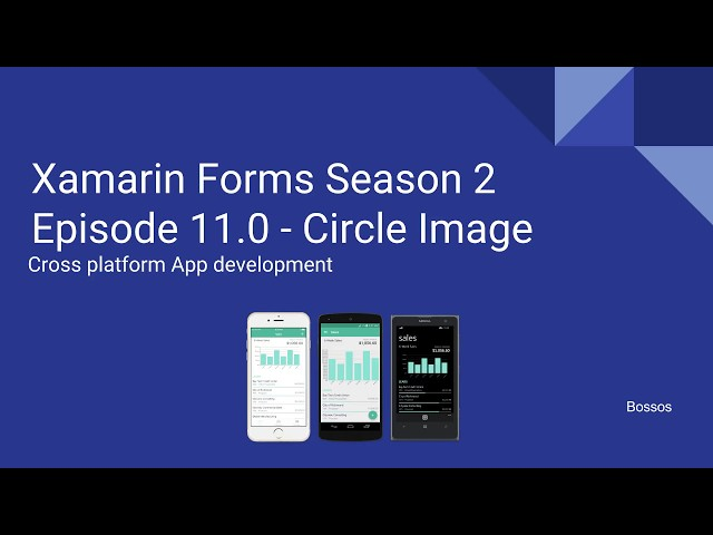 Xamarin Tutorial Season 2 Episode 11 Circle Image