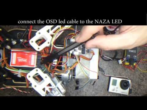 How to connect the Mini S-OSD to a NAZA M - YouTube N Osd Fpv Wiring Diagram on