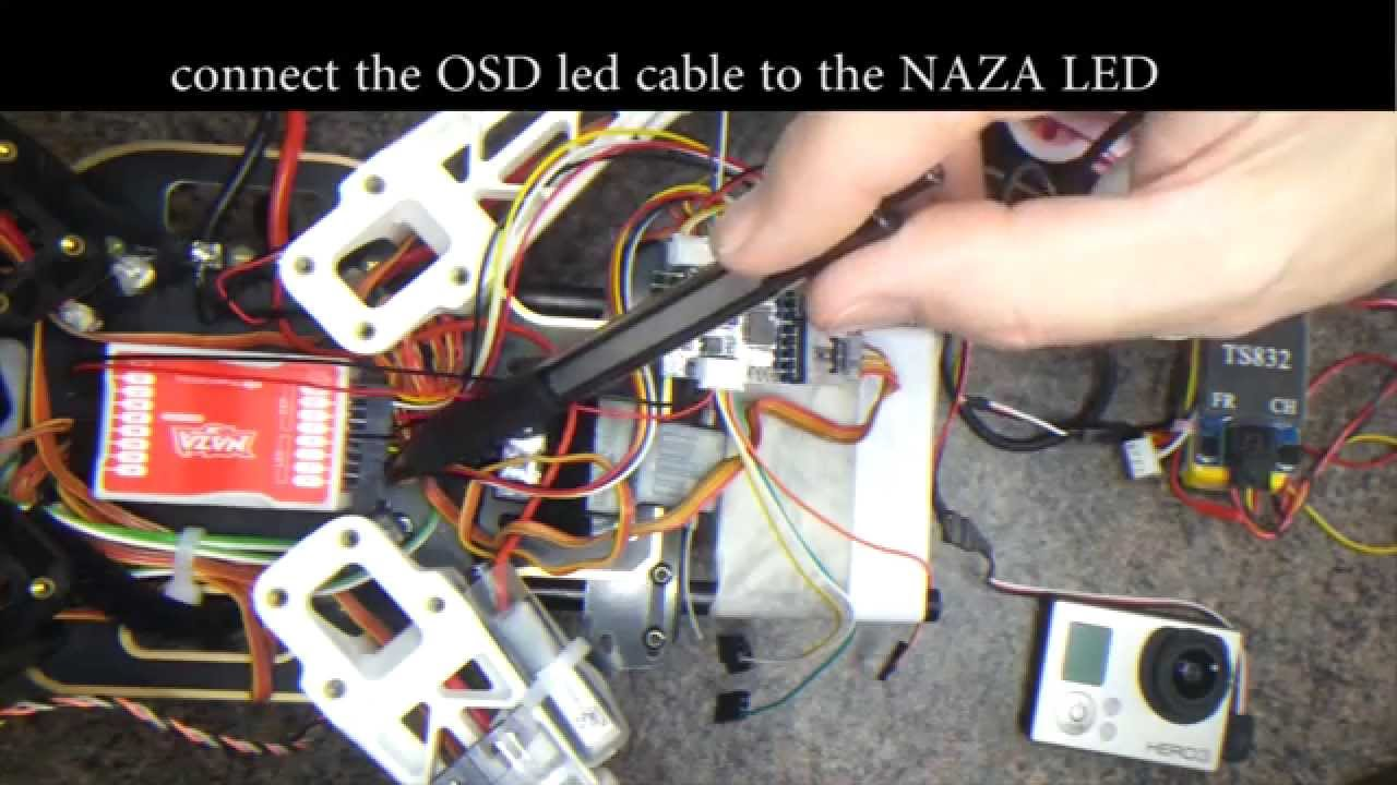 how to connect the mini s osd to a naza m youtube rh youtube com Basic Electrical Schematic Diagrams Wiring Diagram Symbols