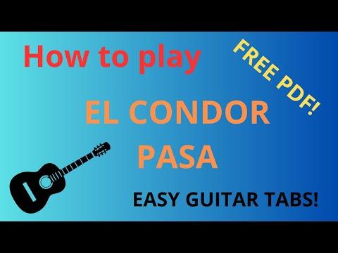 El Condor Pasa - Free easy guitar tablature sheet music