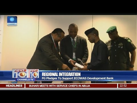FG Pledges To Support ECOWAS Development Bank Pt.4 |News@10| 22/08/17