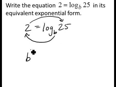Change from Logarithmic to Exponential Form - YouTube