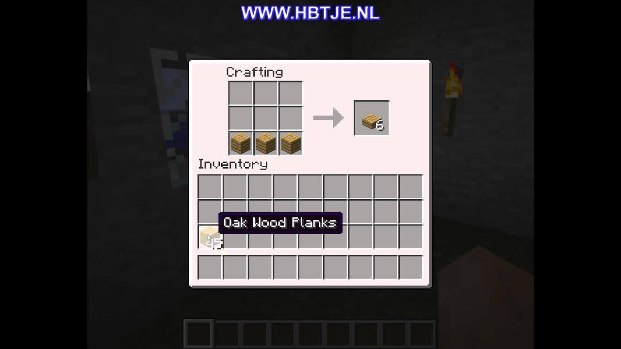 How To Create A Oak Wood Slab In Minecraft Youtube
