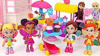 Let's party with Elsa and Anna and Butterbean Fairies! | PinkyPopTOY