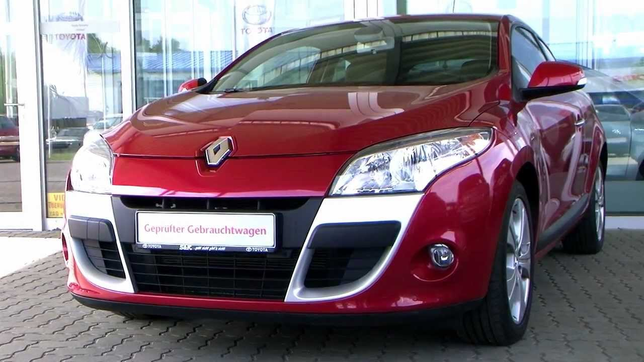 renault megane coupe 1 6 16v dynamique 2009 rot metallic 717011. Black Bedroom Furniture Sets. Home Design Ideas