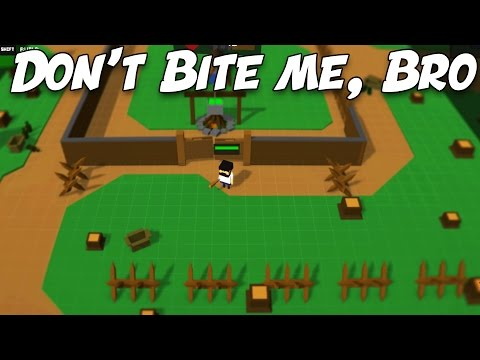 EPIC Zombie Fort Defense!  Don't Bite Me Bro = Minecraft + Zombie Survival Game (Dont Bite Me Bro)