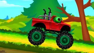 Мультики про МАШИНКИ.  Монстр трак мультик для детей ГОНКИ Монстров. Monster Truck races