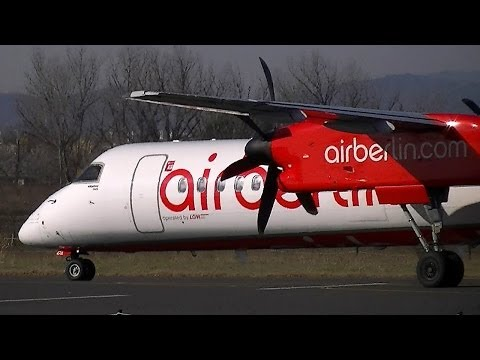 Bombardier Dash 8 Q400 Air Berlin landing and take off at Florence(LIRQ)