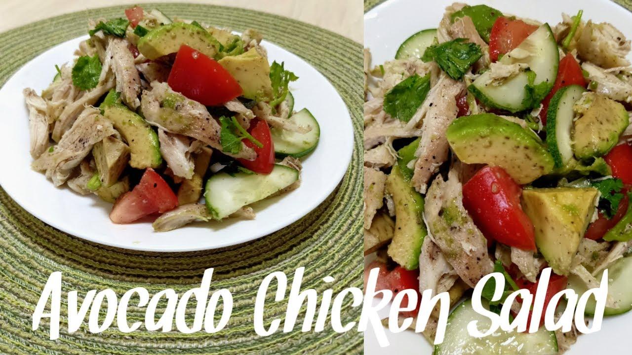 Avocado Chicken Salad Chicken Avocado Salad Youtube