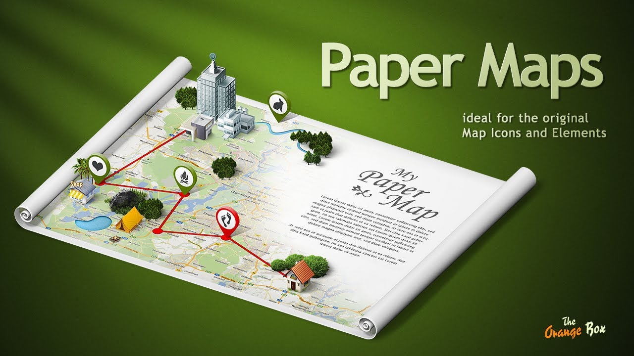 Paper Maps   The perfect stage for your 3D Maps and Icons   YouTube