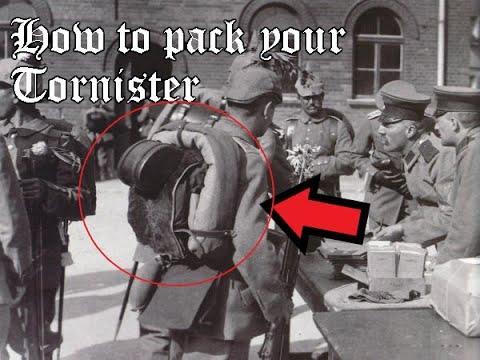 How To Pack A WWI German Tornister, WWI German Reenactor Tutorial