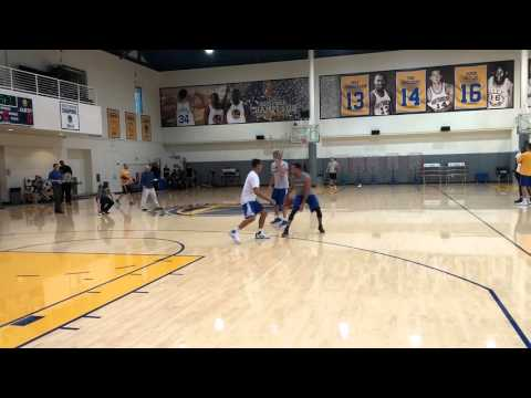 Stephen Curry pick-and-roll drills w Steve Nash