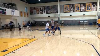 Stephen Curry pick-and-roll drills w Steve Nash thumbnail