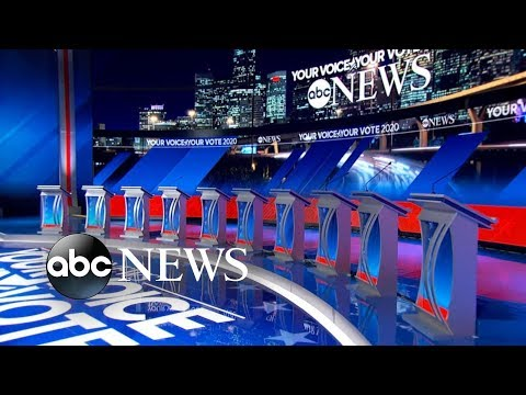 10 Democratic candidates on debate stage for 1st time  ABC News