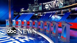 10 Democratic candidates on debate stage for 1st time | ABC News
