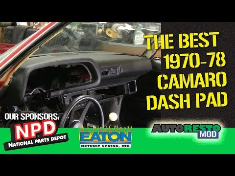 1970 Camaro Dash Pad from National Parts Depot review and dash panel parts  Episode 350 Autorestomod