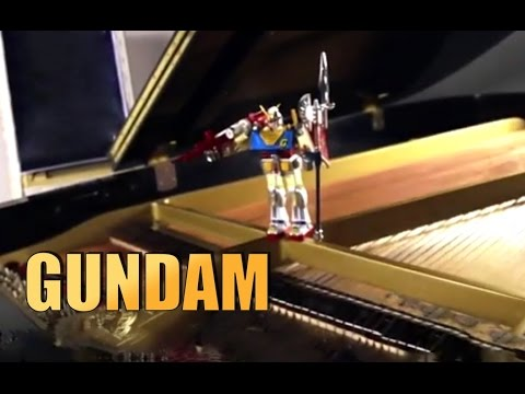 GUNDAM - sigla -  secret piano cover by Jazzy Fabbry  RX-78 Mobile Suit Gundam