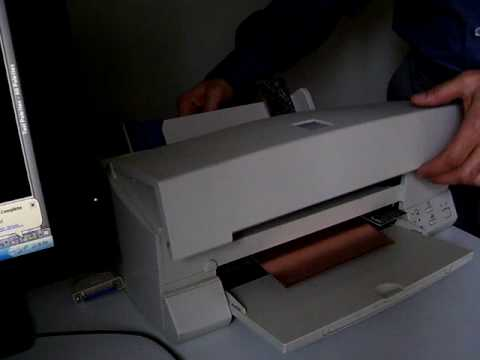 inkjet pcb printer modified - YouTube